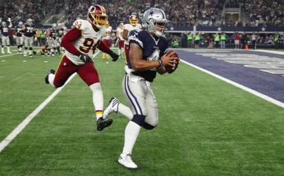 The Dallas Cowboys beat the Washington Redskins on Thanksgiving Day