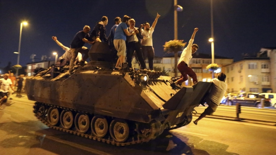 A failed coup in Turkey in 2016
