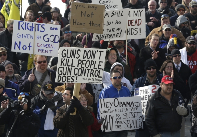 Image: Gun owners and Second Amendment advocates rally